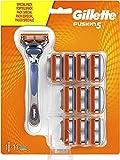 Gillette Fusion 5 Rasierer Herren mit Trimmerklinge für Präzision und Gleitbeschichtung, Rasierer + 11 Rasierklingen
