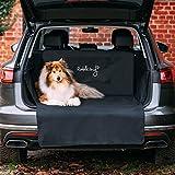 Rudelkönig Kofferraumschutz mit Ladekantenschutz - wasserabweisend & pflegeleicht - Universale Schondecke mit Aufbewahrungstasche - Autoschondecke für Hunde