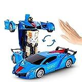 YLJYJ Transformation Auto Spielzeug für Kinder 1:12 Modell RC Sportwagen, verwandeln Auto Roboter EIN Knopf verwandelt Sich in Roboter Electronic Re (intelligentes Auto)