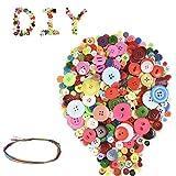 Heatigo-660 runde Bastelknöpfe, Knöpfe zum Nähen, Harzknöpfe, runde Bastelknöpfe zum Nähen von DIY-Kunsthandwerk, manuelle Knopfmalerei für Kinder