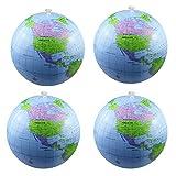Luckkyme Aufblasbare Weltkugel, Erde, Strandball für Partytüten, Strand Spielen oder Lehren, 4 Stück