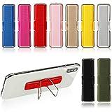 Weewooday 9 Stück Fingergurt-Handyhalter, elastische Handyhalterungen, Handy-Griffe, elastische Fingerhalter, Fingerschlaufen-Ständer für Smartphones, kleine Tablets, 9