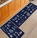 HLXX Geometrische rutschfeste Fußmatte Teppich Couchtisch Bodenmatte Schlafzimmer Nachttisch Küche Teppich Teppich Eingangsmatte A2 40x60cm