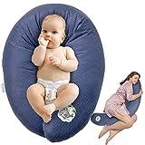 Sei Design Stillkissen Schwangerschaftskissen 170 x 30 cm, Füllung: schadstoffgeprüfte 3-D EPS-Mikroperlen - anschmiegsam wie Sand und dennoch leicht wie Federn, Made in Germany