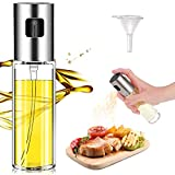 Ölsprüher Flasche Olivenöl Sprüher nachfüllbare Essig- und Öl Zerstäuber Transparent Öl Sprayer für Kochen, BBQ, Grillen, Pasta, Salate, Backen und Braten (100ml)