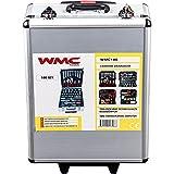 WMC TOOLS Werkzeug Set 186 teilig Werkzeugtrolley Werkzeugkoffer bestückt Profi Werkzeugset Heimwerker Haushalt Kfz Garten Koffer mit Rollen Tool Set Werkzeuge