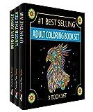 Creatively Calm Studios Drei Bücher, mit Motiven aus dem Himmel Land & Meer, Färbung Bücher für Erwachsene Entspannung