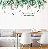 Pdrui Wandtattoo für Schlafzimmer, Tropischer Dschungel Wandsticker als Wanddekoration für Wohnzimmer Kinderzimmer 53cm×150cm | Deko Wand Aufkleber für Wand Fenster Flur S