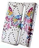 FoneJacket für Samsung Galaxy S21+5G Hülle Flip-Etui, Etui, Folio, Leder/Gel - Regenbogen Schmetterling