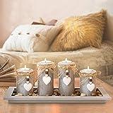 GoMaihe Kerzenständer Teelichthalter 4 Stück, Kerzenleuchter Kerzenhalter Tischdeko Deko Wohnzimmer Schlafzimmer Balkon Badezimmer, Dekoration Adventskerzenhalter