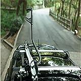 JINGBO Dach-Fahrradträger für 1 Fahrräder, Nutzlast 70KG, Aluminiumlegierung, Zusammenklappbar für Auto SUV LKW