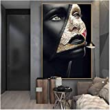 HHLSS Druck auf Leinwand 20x30cm ohne Rahmen Zeitungscover Gesicht Kreative Kunst Poster Sexy Model Wandkunst Bilder Home Decoration Cuadros