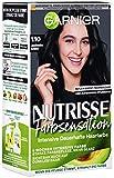 Garnier Nutrisse Farbsensation 1.10 Leuchtendes Schwarz, dauerhafte und intensive Haarfarbe, mit nährenden Fruchtölen, für intensive Reflexe, 3er Pack(3 x 224 g)