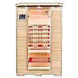 Home Deluxe – Infrarotkabine – Redsun M – Vollspektrumstrahler – Holz: Hemlocktanne - Maße: 120 x 105 x 190 cm | Infrarotsauna für 2 Personen, Infrarot, Kabine