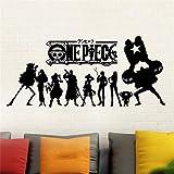 Wandaufkleber Wandtattoo One Piece Wall Art Decor japanische Anime Wall Decal Vinyl Wall Stick