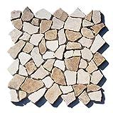 M-022 Marmor Bruchstein Mosaikfliesen'Mocca White' Naturstein Badezimmer Fliesen Lager Verkauf Herne NRW