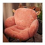 Youpin Bequemes Sitzkissen mit langem Plüsch, Pink / Grau, Stuhlkissen, Tatami, Beinstütze, Lendenwirbelstütze, Büro- und Schlafzimmerkissen (Farbe: Weiß, Spezifikation