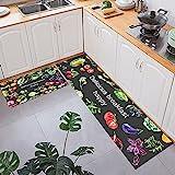 HLXX Mode Küchenteppich für Boden Anti-Rutsch-Bad Eingang Fußmatte Absorbierende Teppiche Wohnzimmer Schlafzimmer Kinder Pad A13 50x160cm