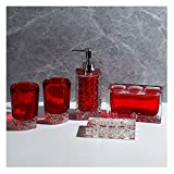 luckxuan Seifenspender 5-teiliges Harz-Badezimmer-Accessoires Set Inklusive Seifenspender-Zahnbürstenhalter-Tumbler und Seifenschale, für Hotel-Toiletten-Startseite Seifenspender für das Badezimmer