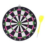 COMF 1 Set perfekt für Erwachsene Indoor Fitness Spiel Kinder Dekoration Board Spielzeug 16cm doppelseitige Dart Brett Darts Spiel Set