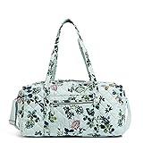 Vera Bradley Damen Performance Twill Medium Travel Duffle Bag Reisetasche, Meerwasserblüten, Einheitsgröße