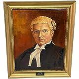 Ölgemälde Portrait J C Litherland (Sydney) Barrister at Law 1897-1983