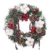 UISY Weihnachtskranz Türkranz Wandkranz Weihnachten Garland Weihnachtsgirlande Wanddekoration Weihnachtsdeko Für Tür Deko