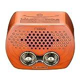 Qoosea Tragbare Retro Radio, Klein Holz Vintage Radio mit Bluetooth Lautsprecher Klassisches Radio Starke Bassverstärkung UKW-Radio, TF-Karte und MP3-Player