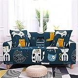Cartoon Katze Print Sofabezug Polyester Sofa Schutzhülle Waschbar rutschfest Staubdicht Geeignet Für Wohnzimmer Schlafzimmer Kinderzimmer