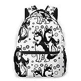 Jiaoqi Siberian Husky Mit Schneeflocken Etwas Reise Bookbags Schultasche für Frauen-Mann-Geschenke