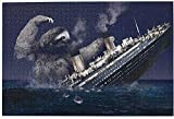 Faultier Titanic 1000-teiliges Puzzle für Erwachsene Familienspiel, Teambuilding, Geschenk & Geschenk für Liebhaber oder Freunde