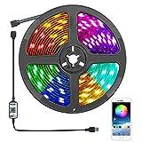 LED Strip 5M Wasserdicht,Damtong Bluetooth USB LED Streifen,RGB Lichterkette App Steuerung Sync mit Musik,für Küche,Schlafzimmer,TV, Party