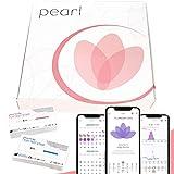 Pearl Fertility Kit zur Zykluskontrolle und Eisprungbestimmung, inkl. Teststreifen für 3 Hormone und Zugang zur Pearl App (bei Kinderwunsch oder als natürliche Zyklustracking-Methode)