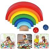 Farbpuzzle, Spielzeug-Stein-Holz-Bausteine, für Kinder Kid