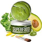 Körpermousse mit Avocado & Superfoods 100ml   Gesicht Polierer aus Meereslehm   Gesichtsporen - Minimierer   Reinigt Pickel und entgiftet die Haut