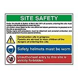 Schild mit Aufschrift'Site Safety Composite', leichter Wellkunststoff, 800 mm x 600 mm