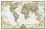 Weltkarte politisch, Winkelprojektion, Executive Linie, Planokarte