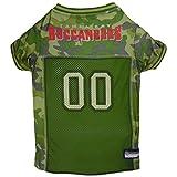 NFL Tampa Bay Buccaneers Hunde-Trikot, Größe M, Camouflage-Trikot, erhältlich in 5 Größen und 32 NFL-Teams, Jagdhunde-Shirt