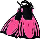 AQUAZON Alicante Verstellbare Flossen, Schnorchelflossen, Taucherflossen, Schwimmflossen für Kinder und Erwachsene zum Schnorcheln, Schwimmen, Farbe:pink, Größe:27/31