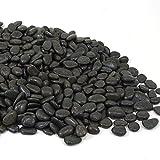 MGS SHOP Zierkies Nero schwarz matt glänzend Feng-Shui Kies frosthart frosthart 20 kg (5-15 mm)