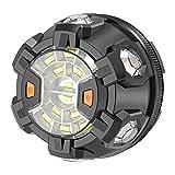 powerlantz Auto-Notfall-Licht-Pannenset, superhelle LED-Sicherheitsleuchte, bernsteinfarben, blinkende Warnleuchte mit 1,5 km Sichtbarkeit und magnetischer Sockel-Befestigung
