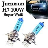 2x H7 12V 100W 6000K Super White Xenon Effekt Superhelle Halogen Lampen Jurmann Original
