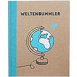 Odernichtoderdoch Notizbuch | Weltenbummler | 17 x 21 cm - 180 Seiten - Liniert Mit Weltkarte zum Markieren