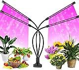 FiBiSonic Pflanzenlampe LED 40W 80 LEDs Vollspektrum, Flexibles Grow Light Pflanzenlicht mit Timing Funktion, 3 Modus, 10 Helligkeitsstufen, Mit 360°Einstellbar USB[Energieklasse A+]