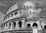 Metropole Rom (Tischkalender 2022 DIN A5 quer): Die Hauptstadt von Italien in schwarz und weiß (Monatskalender, 14 Seiten ) (CALVENDO Orte)