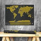 Smyla Rubbel-Weltkarte Entdecker Deluxe | Weltkarte zum Rubbeln - Rubbel Landkarte - Poster XXL zum Freirubbeln