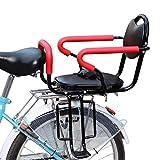 CRMY Kinderfahrradsitz mit Griff und Pedal für Mountainbike-Sicherheitsfahrrad-Kindersitz für Kinder im Alter von 2,5 bis 8 Jahren