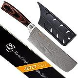AMZHANDEL® Hackmesser   rostfrei   besonders handlich Dank Pakkaholz   extrem scharf   Profi Küchenmesser ideal als Hackmesser & Fleischmesser