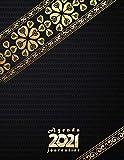 Agenda 2021 journalier: Planificateur 2021 -noir- grand format (21.59x27.94)cm- une page par jour , 365 jours , avec horaire 08h00 à 20h30 (toutes les ... de janvier a décembre 2021,1 jour = 1page
