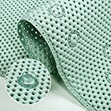 rutschfest Badewannenmatte für Kinder und Erwachsene, antirutschmatte Badewanne Badematte mit Saugnäpfen, Extra Lang Duschmatte Badewanneneinlage Maschinenwaschbar 91x43cm (grün)